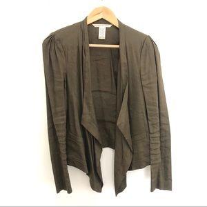 DVF Olive Green Blazer Jacket